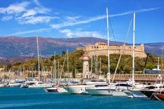 Kanal von Antibes, Frankreich Lizenzfreie Stockfotos