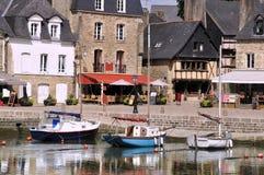 Kanal von Auray in Frankreich stockfotos