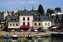 Kanal von Auray in Frankreich stockbilder