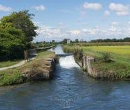 Kanal von Bereguardo (IMilan) Stockfotografie