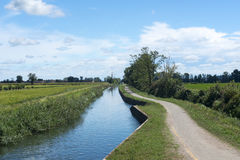 Kanal von Bereguardo (IMilan) Lizenzfreie Stockfotografie