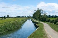 Kanal von Bereguardo (IMilan) Lizenzfreie Stockfotos