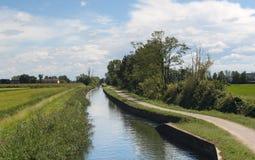 Kanal von Bereguardo (IMilan) Lizenzfreies Stockfoto