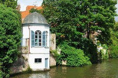 Kanal von Brügge, Belgien Stockbild
