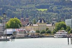 Kanal von Bregenz am See constance Lizenzfreie Stockfotos