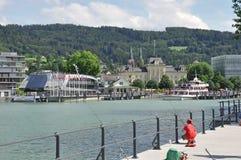 Kanal von Bregenz am See constance Stockbild