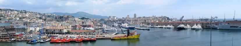 Kanal von Genua, Italien stockbild