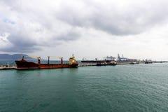 Kanal von Gibraltar stockbilder
