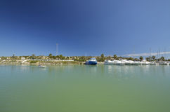 Kanal von Guardamar del Segura, Spanien lizenzfreies stockbild