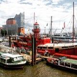 Kanal von Hamburg Stockbilder