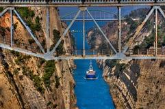 Kanal von Korinth Lizenzfreie Stockfotos