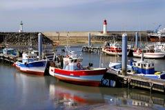 Kanal von La Cotiniere in Frankreich Stockfoto