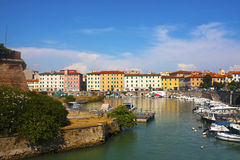 Kanal von Livorno Lizenzfreies Stockbild