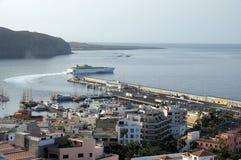 Kanal von Los Cristianos, Tenerife Spanien Lizenzfreie Stockbilder