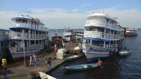 Kanal von Manaus stockbilder