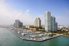 Kanal von Miami Stockbilder