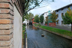 Kanal von Mozzanica stockfotografie