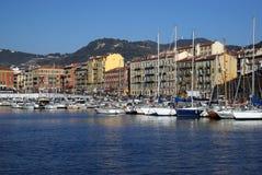 Kanal von Nizza in Frankreich Stockbild