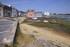 Kanal von Port Louis in Bretagne in Frankreich Lizenzfreies Stockfoto