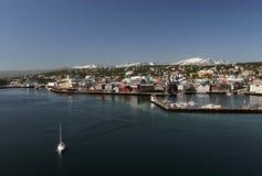 Kanal von Tromso Stockfotos