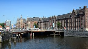 Zentrale Bahnstation - Amsterdam, die Niederlande Lizenzfreies Stockbild