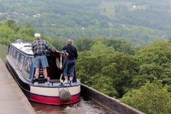 Kanal in Wales lizenzfreie stockfotografie