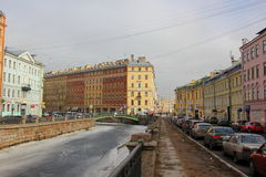 Kanala Griboedova de Naberezhnaya La Russie, St Petersburg, le 12 mars 2017 Photo stock