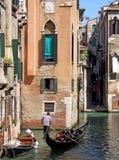 Kanalansicht in Venedig Italien stockfotos