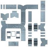 Kanalarbetsuppsättning vektor illustrationer