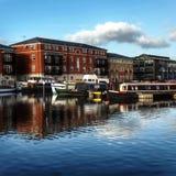 Kanalbecken Worcester Großbritannien stockbild