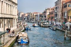 kanalcannaregio venice Royaltyfri Bild