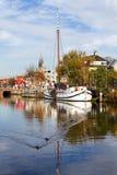kanaldelft Nederländerna Royaltyfria Bilder