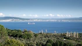 Kanalen av Dardanelles Arkivfoto