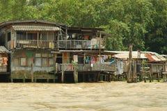Kanalen in Bangkok. Royalty-vrije Stock Afbeelding