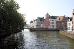 Kanalen in Brugge Royalty-vrije Stock Foto