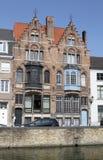 Kanalen in Brugge Royalty-vrije Stock Foto's