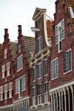 kanalen houses monumental Nederländerna Arkivfoto