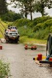 Kanalen lutade ned nivån på den ElblÄ… G-kanalen royaltyfri bild