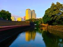 Kanalen på fortSantiago Royaltyfri Fotografi