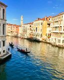 Kanalen som är stor i Venedig, Italien royaltyfria foton