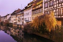 Kanalen in Straatsburg Stock Fotografie