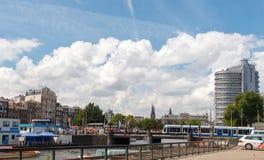 Kanalen van Amsterdam Stock Afbeeldingen