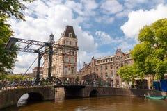 Kanalen van Amsterdam Royalty-vrije Stock Foto