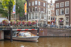 Kanalen van Amsterdam Royalty-vrije Stock Foto's