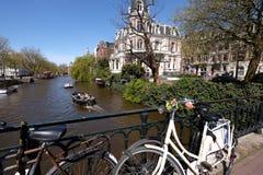 Kanalen van Amsterdam Stock Foto's