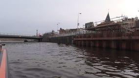 Kanalen van Amsterdam stock footage
