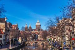 Kanalen van Amsterdam royalty-vrije stock fotografie