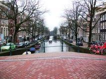 Kanalen van Amsterdam, Holland, Nederland royalty-vrije stock afbeelding