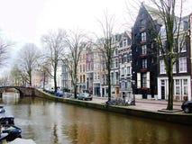 Kanalen van Amsterdam, Holland, Nederland stock fotografie