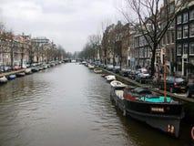 Kanalen van Amsterdam, Holland, Nederland royalty-vrije stock foto's